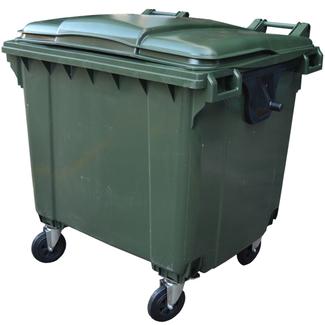 Imagen de Contenedor de Residuos Verde de 1100 litros 4 Ruedas